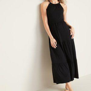 Old Navy Jersey Knit Black Maxi Dress Size XS